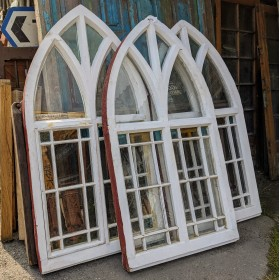 Set of 3 Church Windows Windows and Canopies