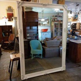 Large White Ornate Mirror Mirrors