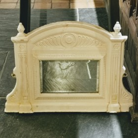 Small White Painted Cast Iron Mirror Mirrors