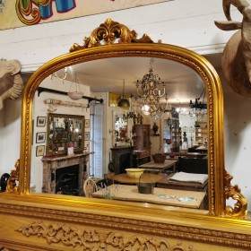 Gold Gilt Overmantle Mirror Mirrors
