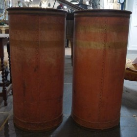 French Vulcanised Rubber Storage Tubes Other Decorative