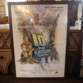 Scandinavian Film Poster - Force 10 From Navarone  Maps, Paintings and Posters