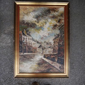 Framed Oil Painting - Street Maps, Paintings and Posters