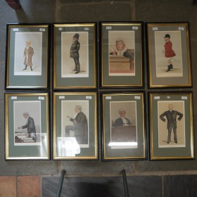 SET OF 8 VANITY FAIR PRINTS Maps, Paintings and Posters