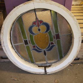 Round Window In Frame Stained Glass
