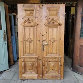 Pair of Ornate Pine Doors Large Doors & Pairs
