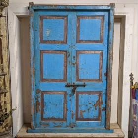 Large Blue Indian doors Large Doors & Pairs