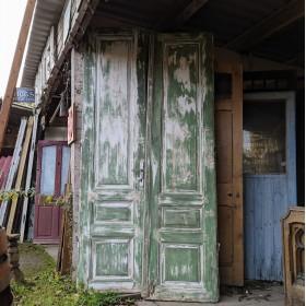 Green Painted Doors Large Doors & Pairs