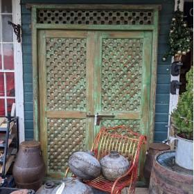 Large Green Indian Doors Large Doors & Pairs