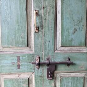Green Indian Doors Large Doors & Pairs