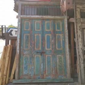 Huge Blue Indian Doors Large Doors & Pairs
