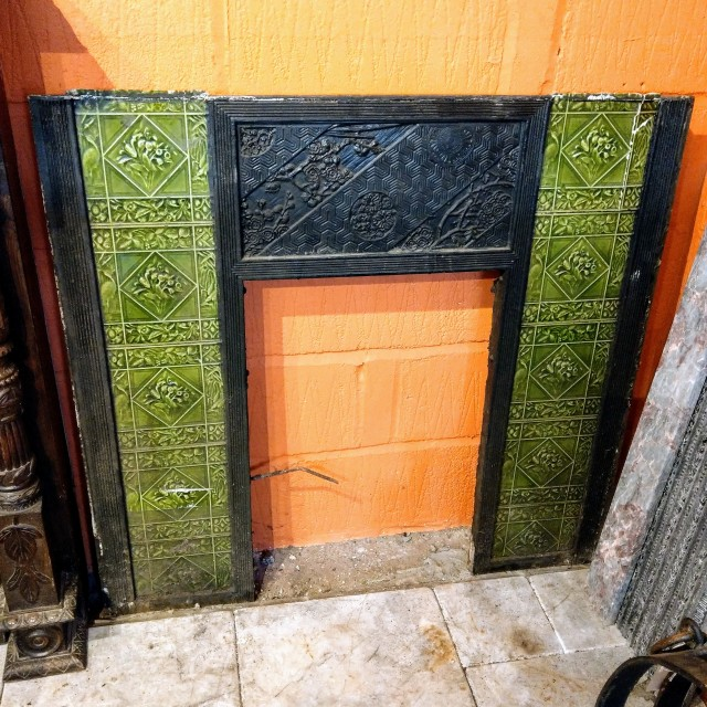 19th Century Tiled Jeckyll Fire Front Inserts