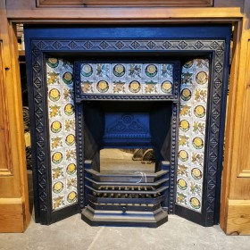 Tiled Cast Iron Fire Insert Inserts
