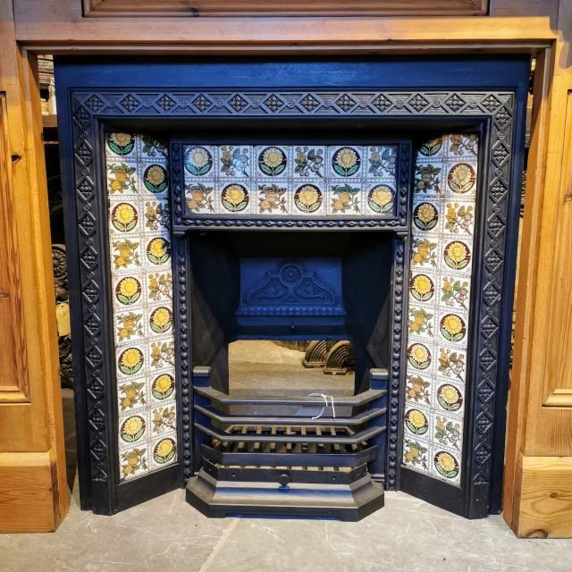Tiled Cast Iron Fire Insert Inserts