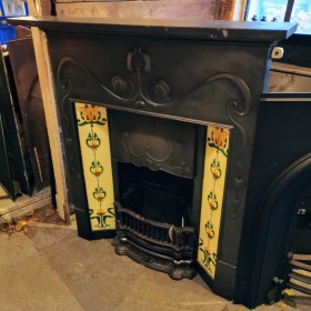 Cast Iron Combination Fireplace Inserts