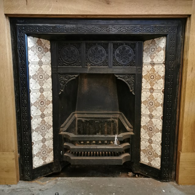 19th C Complete Fire Insert Inserts
