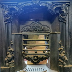 Original Georgian Cast Iron Fire Insert Inserts