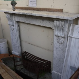 Victorian White Marble Surround Fire Surrounds and Overmantles
