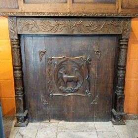 Oak Carved Fire Surround Fire Surrounds and Overmantles