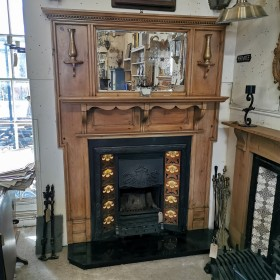 Stripped Pine Fure Surround Fire Surrounds and Overmantles