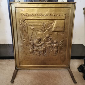 Brass Fire Screen Fire Spares, Hearths and Accessories