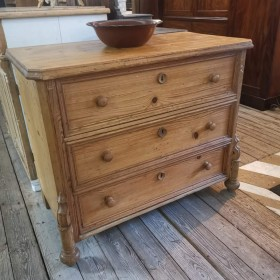 Waxed Pine Chest of Drawers Bedroom Furniture