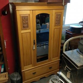 "6ft7"" Mirrored Wardrobe Bedroom Furniture"