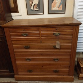 Edwardian Satinwood Chest of Drawers Bedroom Furniture