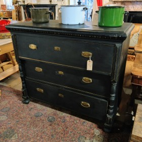 4ft Wide Black Chest of Drawers Bedroom Furniture