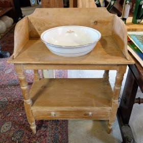 Pine Two-Tier Washstand Bedroom Furniture