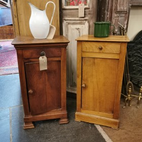Mismatched Pair French Bedside Cabinets/Pot Cupboards Cupboards and Larders