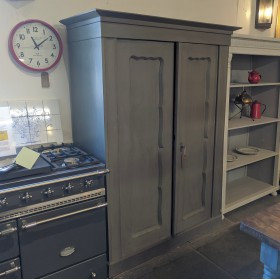 Grey Painted Wardrobe Cupboards and Larders