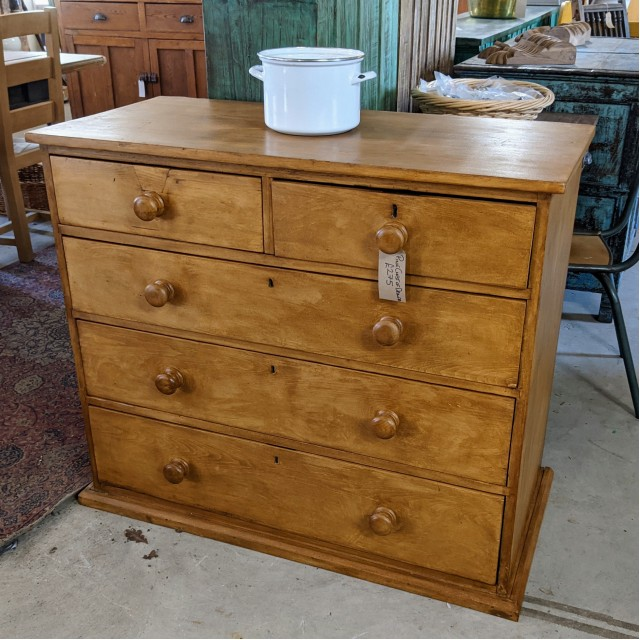 Waxed Pine Chest of Drawers The Workshop