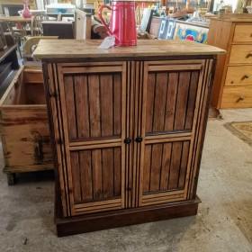Stripped Wooden Cupboard Cupboards and Larders