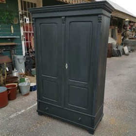 Black Painted Cupboard Cupboards and Larders