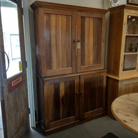 Oak Larder with Pine Interior Cupboards and Larders