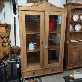 Stripped Pine Glazed Cabinet Cupboards and Larders