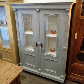 Grey Painted Larder/Display Cabinet Cupboards and Larders