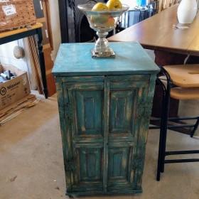Blue Painted Rustic Cupboard Cupboards and Larders