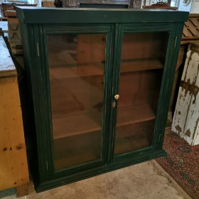 Dark Green Glazed Cabinet Cupboards and Larders