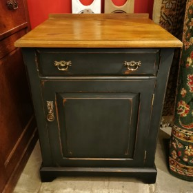 Small Black Painted Cupboard Cupboards and Larders