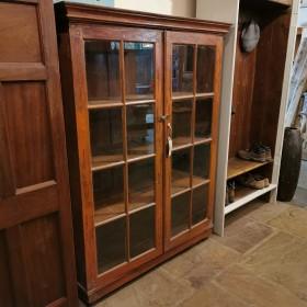 Glazed Teak Cupboard Cupboards and Larders
