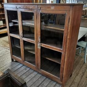 Glazed 3 Door Cabinet Cupboards and Larders