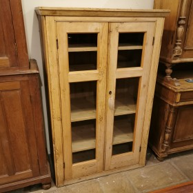 Pine Glazed Cupboard Cupboards and Larders