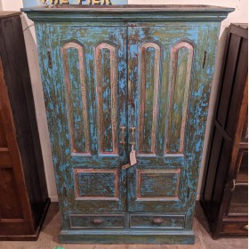 Blue Painted Cupboard Cupboards and Larders