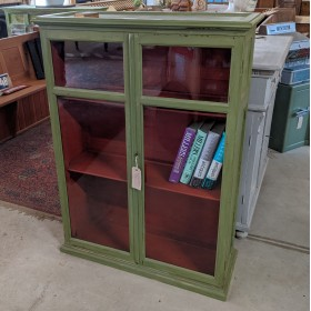 Green Display Cabinet Cupboards and Larders