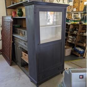 Dark Grey Glazed Cupboard Cupboards and Larders