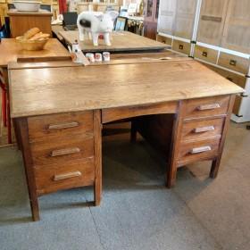 Mid-20th Century Oak Desk Desks