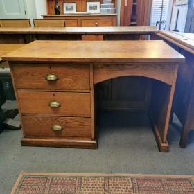 3 Drawer Oak Desk Desks