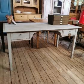 Painted Grey Desk Desks